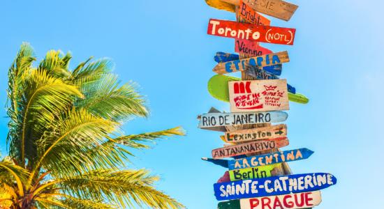 Panneaux destinations vacances